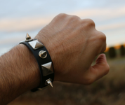 ROCKER, LEATHER BRACELET XXVII - WRISTBANDS