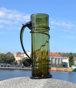 ONE LITER GLASS, HAND BLOWN - HISTORICAL GLASS