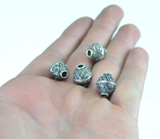 SILVER SLAVIC GOMB, BEAD, SILVER 925 - PENDANTS - HISTORICAL JEWELRY