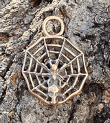 SPIDER IN A NET, PENDANT, BRONZE - BRONZE AND BRASS REPLICAS - JEWELLERY