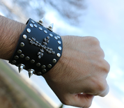 ROCKER, LEATHER BRACELET IX - WRISTBANDS