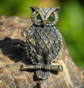 EAGLE - OWL, BUBO BUBO, COSTUME BROOCH - COSTUME JEWELLERY