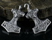 THOR'S HAMMER, TIN, COSTUME BROOCH - COSTUME BROOCHES, FIBULAE