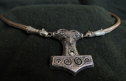 THOR'S NECKLACE, VIKING KNIT, BRONZE - BRONZE HISTORICAL JEWELS