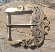 HISTORICAL BUCKLE FOR BELTS, BRASS COLOUR - BELT ACCESSORIES