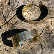 BANBHA, BRASS BANGLE, MADE IN IRELAND - CELTIC BRASS JEWELS, IMPORT FROM IRELAND