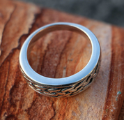 RIONA, CELTIC RING, SILVER - RINGS - HISTORICAL JEWELRY