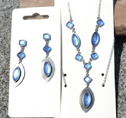 DORIS, NECKLACE, BLUE GLASS - MODESCHMUCK