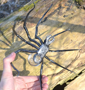 BLACK WIDOW, FORGED SPIDER FIGURE WITH GLASS - FORGED PRODUCTS