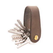 MORLEY, LEATHER KEYCHAIN BROWN - PORTEFEUILLES EN CUIR