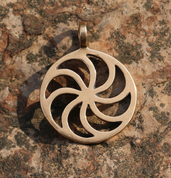 SUN SYMBOL III, BRONZE PENDANT - PENDANTS, NECKLACES