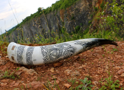 MAGNUS, CARVED DRINKING HORN DE LUXE 3L - DRINKING HORNS