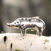 CELTIC BOAR, TABOR, BOHEMIA, PENDANT, STERLING SILVER - PENDANTS - HISTORICAL JEWELRY