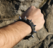 ROCKER, LEATHER BRACELET II - FASHION - LEATHER