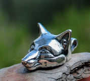 CELTIC FOX, HEAD, PENDANT, STERLING SILVER - MYSTICA SILVER COLLECTION - PENDANTS
