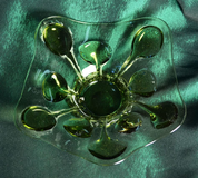 GLASS PLATE, FORREST GLASS - HISTORICAL GLASS