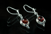JARA, AMBER, EARRINGS, STERLING SILVER - AMBER JEWELRY