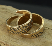 EINAR, BRONZE VIKING RING - BRONZE HISTORICAL JEWELS