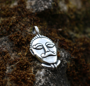 CELTIC HEAD, MSECKE ZEHROVICE, SILVER PENDANT - PENDANTS - HISTORICAL JEWELRY