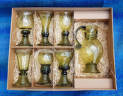 LIVIA, HISTORICAL GLASS SET 6 + 1 - HISTORICAL GLASS