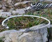 FIANNA, CELTIC DEER, TORC, SILVER - PENDANTS - HISTORICAL JEWELRY