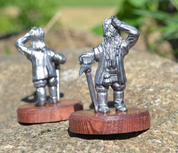 DWARF, PAUSE DURING MININING, HISTORICAL TIN STATUE - PEWTER FIGURES