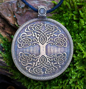 TREE OF THE WORLD, MEDAILON - CELTIC PENDANTS