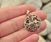 ODIN AND SLEIPNIR, BRONZE PENDANT - VIKING PENDANTS
