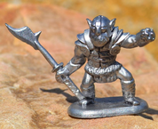 ORC. TIN FIGURE - PEWTER FIGURES
