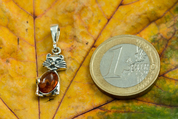 CAT, PENDANT, AMBER, SILVER - AMBER JEWELRY