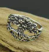 OAK RING, SILVER - RINGS - HISTORICAL JEWELRY