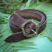 ALBION, BROWN LEATHER BELT - BELTS