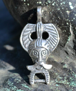 SILVER ODIN PENDANT, RIBE, DENMARK, AG 925 - PENDANTS - HISTORICAL JEWELRY