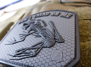 DON´T TREAD ON ME FROG, 3D BLACKOPS VELCRO PATCH - MILITARY PATCHES