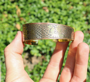LAOISE, BRASS BANGLE, MADE IN IRELAND - CELTIC BRASS JEWELS, IMPORT FROM IRELAND