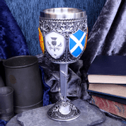 GOBLET OF THE BRAVE SCOTTISH SHIELD GLASS - MUGS, GOBLETS, SCARVES