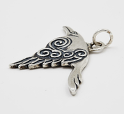 CORVUS - CELTIC CROW PENDANT, SILVER 925 - MYSTICA SILVER COLLECTION - PENDANTS