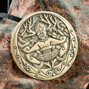 CERNUNNOS, GUNDESTRUP CAULDRON, BRONZE PENDANT - PENDANTS, NECKLACES
