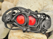 RED EYED HAIR CLASP - FANTASY JEWELS