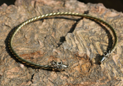 FIANNA, CELTIC DEER, BRASS TORQUES - FORGED JEWELRY, TORCS, BRACELETS