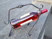 FORGED IRON WINE HOLDER - FORGED PRODUCTS