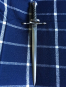 VERDURA, WIRE HANDLE, GREEN LEATHER, BATTLE READY COPY - SWORDFIGHT DAGGERS
