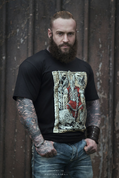 ODIN ON THE THRONE, VIKING T-SHIRT - PAGAN T-SHIRTS NAAV FASHION