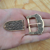 BRONZE VIKING BUCKLE, GOKSTAD, NORWAY, REPLICA - BRONZE HISTORICAL JEWELS