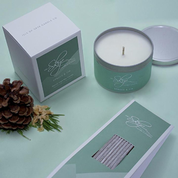 SPRUCE AND FIR TRAVEL CONTAINER, SCENTED CANDLE - SCENTED CANDLES