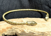 JÖRMUNGANDR, SNAKE, BRASS TORQUES - BRONZE HISTORICAL JEWELS