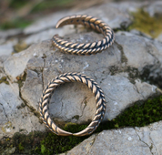VIKING BRAIDED RING, BRONZE - BRONZE HISTORICAL JEWELS