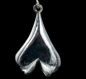 GINKGO BILOBA, PENDANT, SILVER - MYSTICA SILVER COLLECTION - PENDANTS
