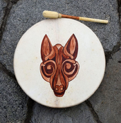 PAGAN WOLF, SHAMANIC DRUM - DRUMS, FLUTES