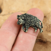 WILD BOAR, PENDANT, ZINC, ANT. BRASS - ANIMAL PENDANTS